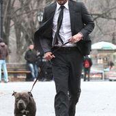 Keanu Reeves bloodied on final day on set of John Wick 2 in NYC
