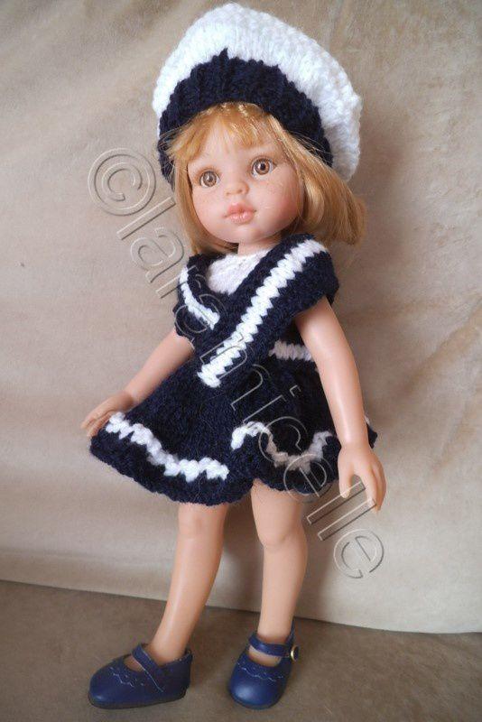 tuto gratuit paola reina : tenue marine , béret, col et petite culotte
