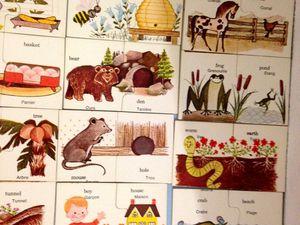 Duo de mots en anglais, jeux vintage playskool sur charlotteblabla blog