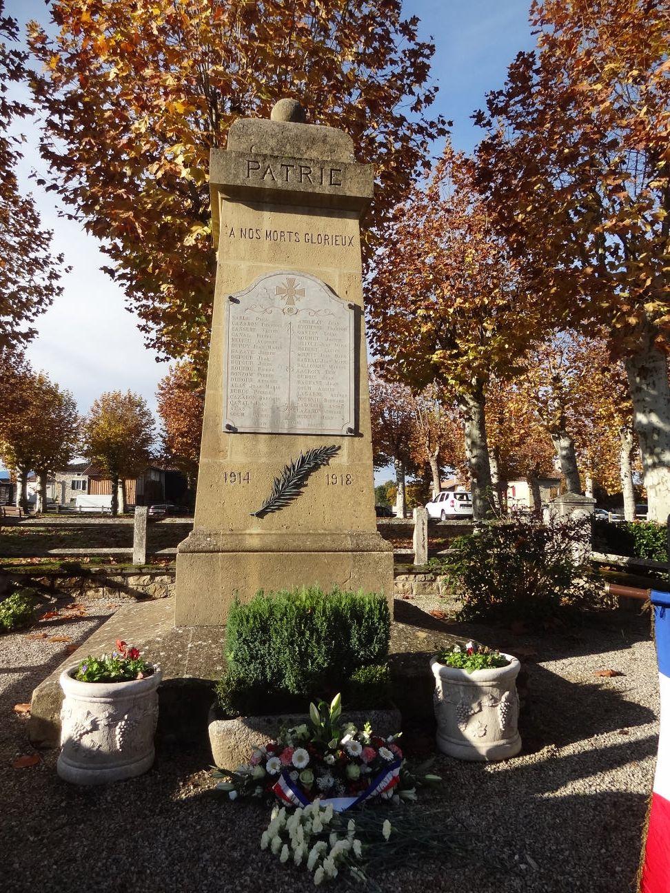 Cassagne - Marsoulas - Mazères - cérémonies du 11 novembre