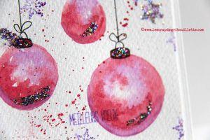 Cartes de Voeux_Boules de Noël aquarellées_Watercolors Cards