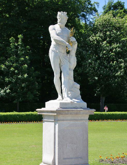 Jardins du château Nymphenburg Munich Allemagne