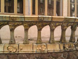 balustrade de balcon vernissée