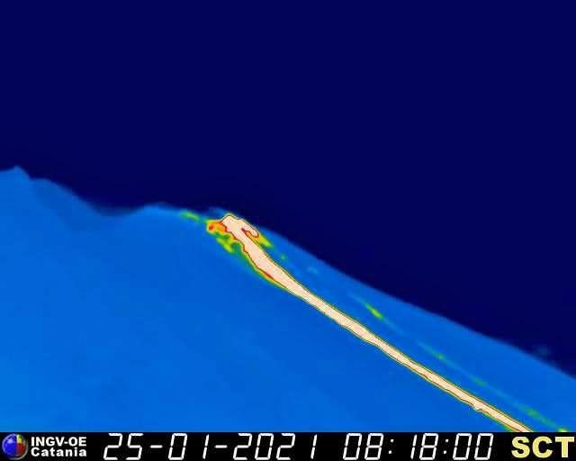 Stromboli - 25.01.2021 / 8:18 am - Cam. therm. INGV