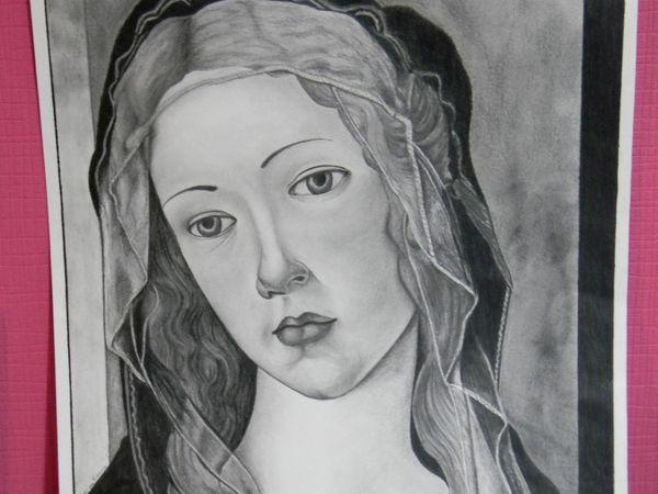 Dessin au crayon d'après Botticelli
