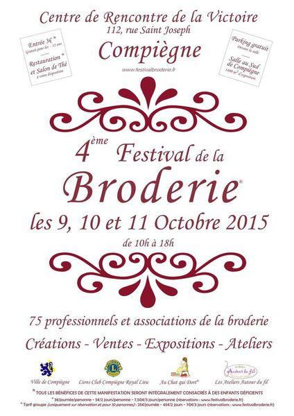 NOTRE ACTION PHARE : LE FESTIVAL DE LA BRODERIE