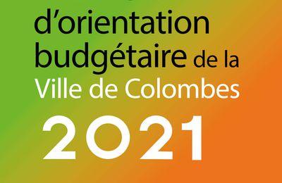 Rapport d'Orientation Budgétaire de Colombes et toujours 0% d'augmentation des impôts !