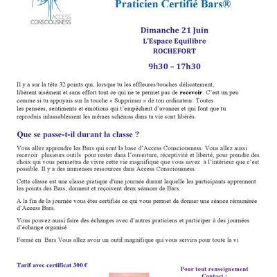 Classe d'Access Bars avec Christina Larell à Rochefort le 21 juin