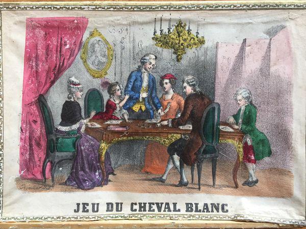 jeu du cheval blanc, 1850