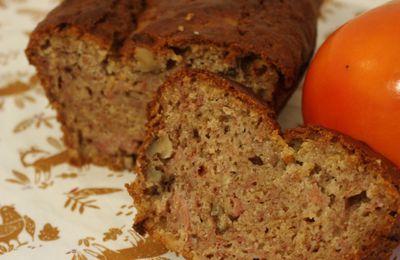 Cake au kaki et aux épices
