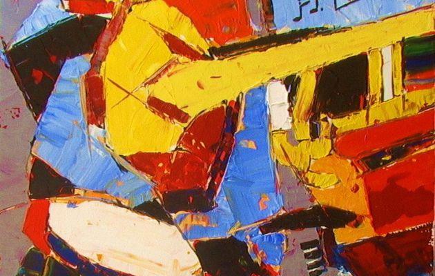 Peinture Acrylique : Notes De Musique.