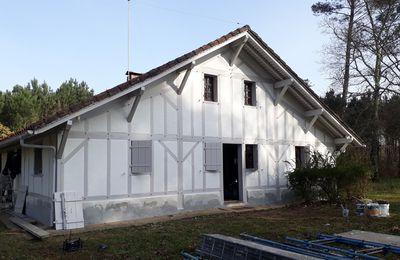 Maison landaise : nouveau look des façades , les travaux avancent...Bientôt l'intérieur.