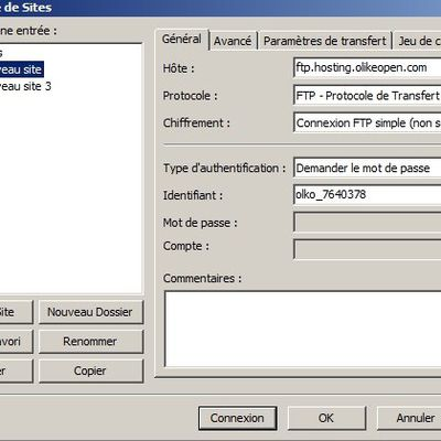 Alimenter son site via un client FTP (Filezilla)