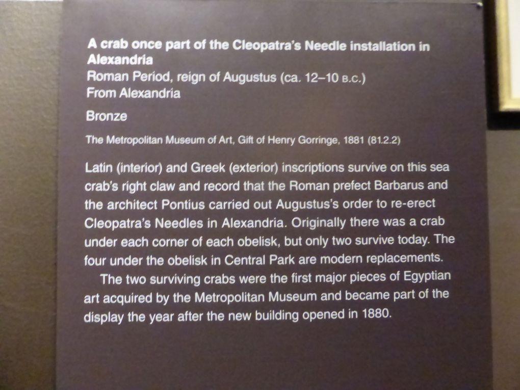 Thoutmosis III // Crabe de l'Aiguille de Cléopâtre // Exposition Cleopatra's Needle, MET, New York © Photographies Gilles Kraemer