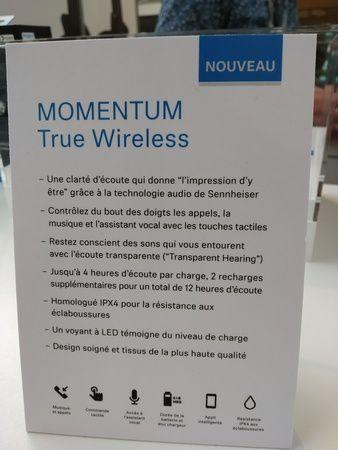 Sennheiser - Momentum true Wireless @ Sound Days 2019 (Carreau du Temple - Paris) - Tests et Bons Plans