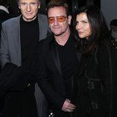 Bono et son épouse Ali Hewson ont été rejoints par Liam Nesson au défilé de mode Edun à New York le 14/02/2016 - U2 BLOG