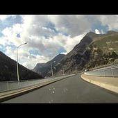 46 Goldwing Unsersbande Tirol 2015 Depart de Nauders vers péage Livigno
