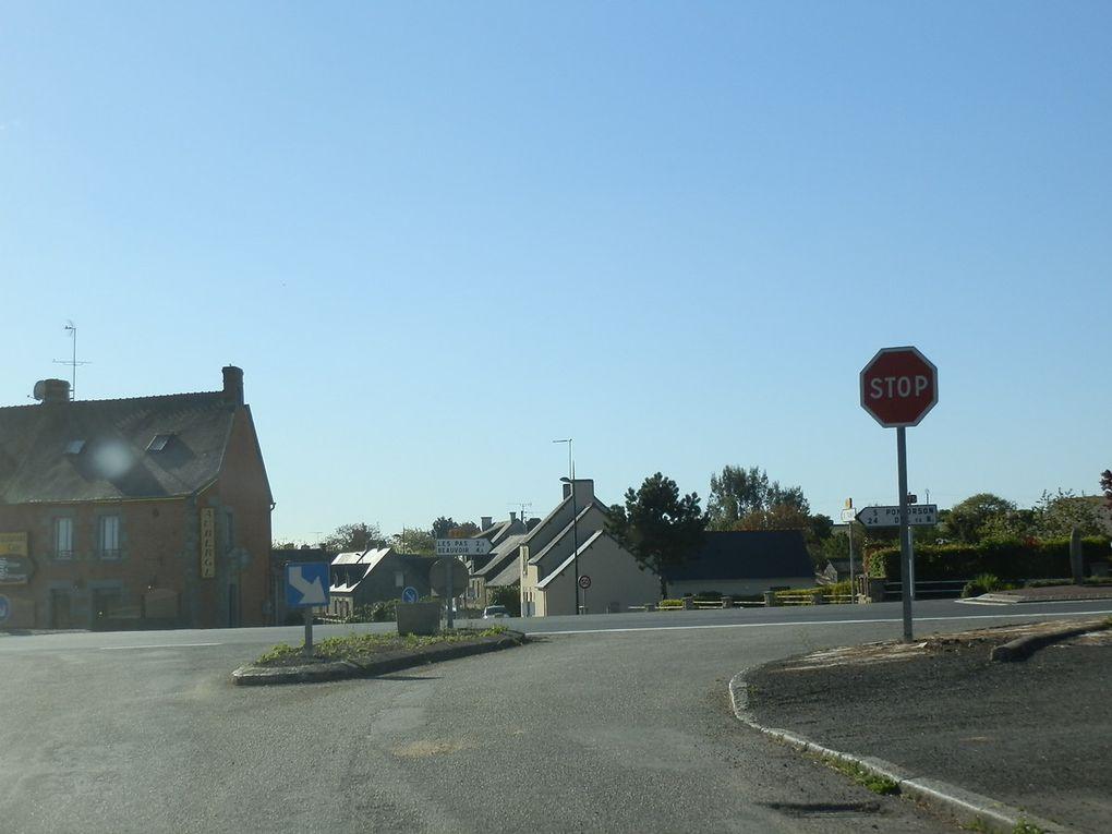 Itinéraire emprunté de La Croix Avranchin à Pontorson : 38 km
