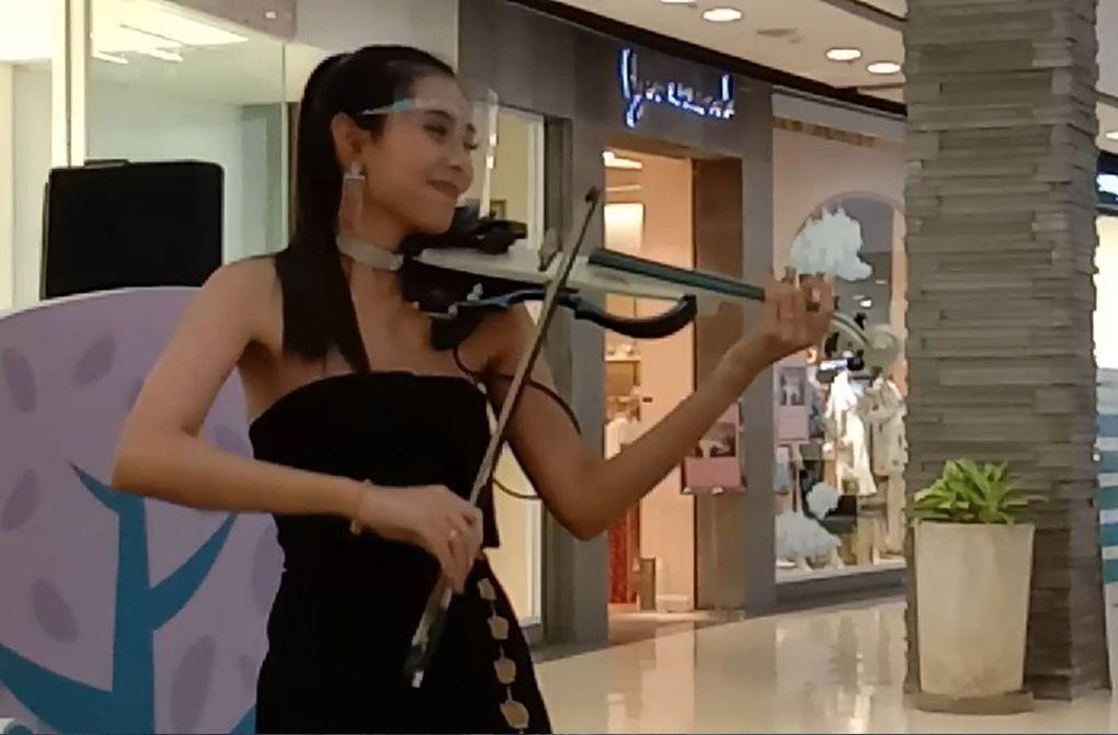Violoniste... au temps du covid...