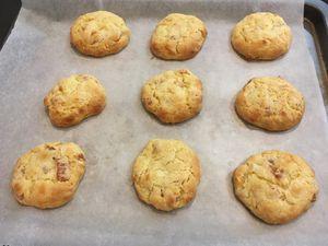 Cookies abricots secs et amandes