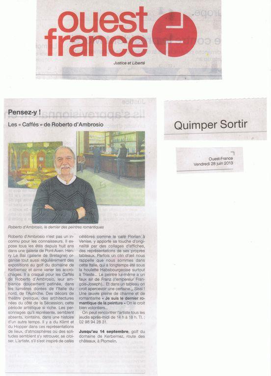 Articles de presse Exposition de Roberto d'Ambrosio