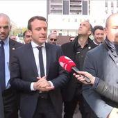 Emmanuel Macron se la joue Zizou à Sarcelles