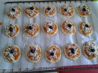 Mini pizza Jambon fromage au thermomix ou au kitchenaid