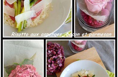 Risotto  d'asperges bacon et parmesan