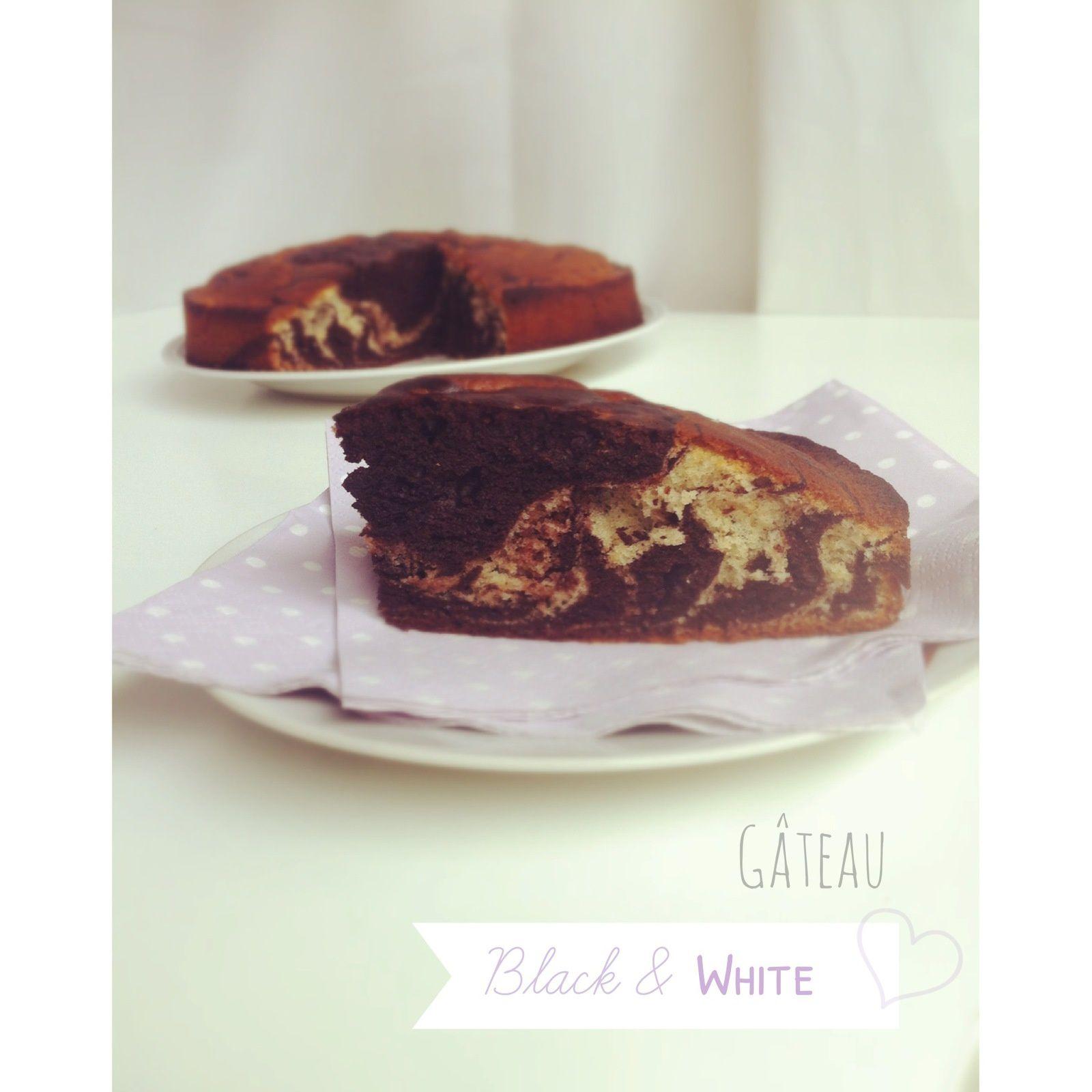 Gâteau Black & White * chocolat vanille