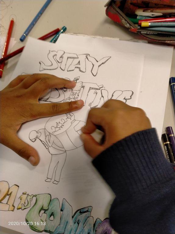 Stage de dessin - les enfants aussi ont besoin d'extérioriser 🥰 Courage à tous, prenez soin de vous ❤
