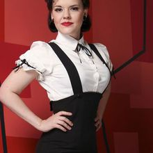 La chemise blanche, look pin up