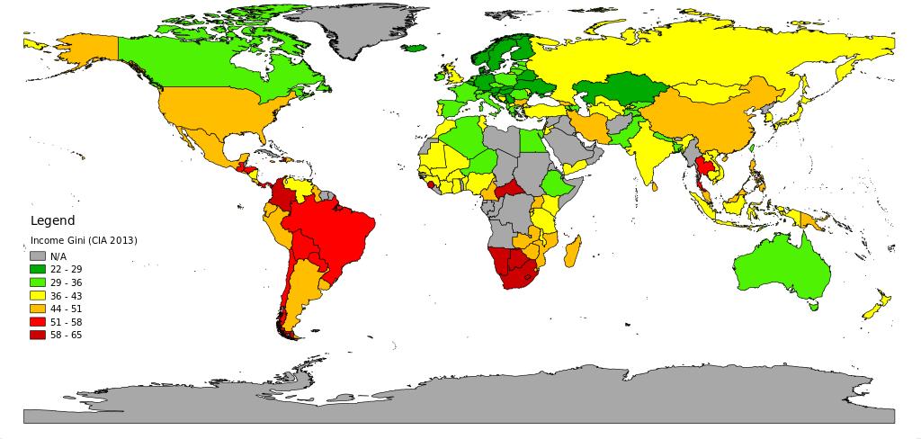 Source wikipédia - inégalités des revenus