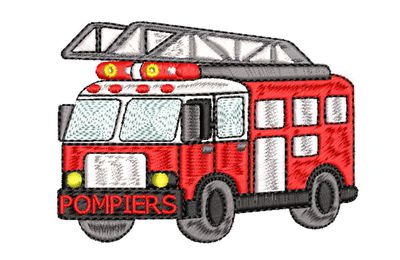 BRODERIE CAMION POMPIERS