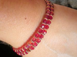 bracelets en perles sur anneaux spirales