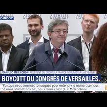 Boycott du congrès de Versailles par les députés de la FI