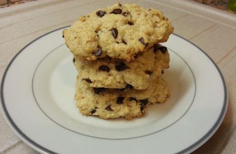 Cookies aux flocons d'avoine, sirop d'érable et pepites au chocolat