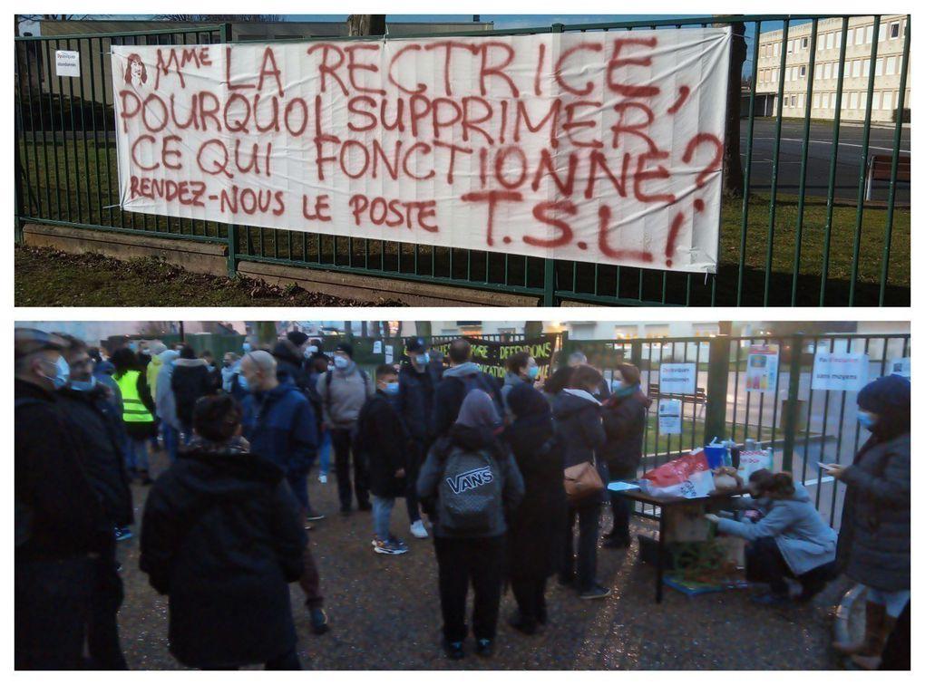 Des enseignants et des parents d'élèves déjà mobilisés - Le Havre Collège Descartes - Dieppe, Rouen, 26 janvier -