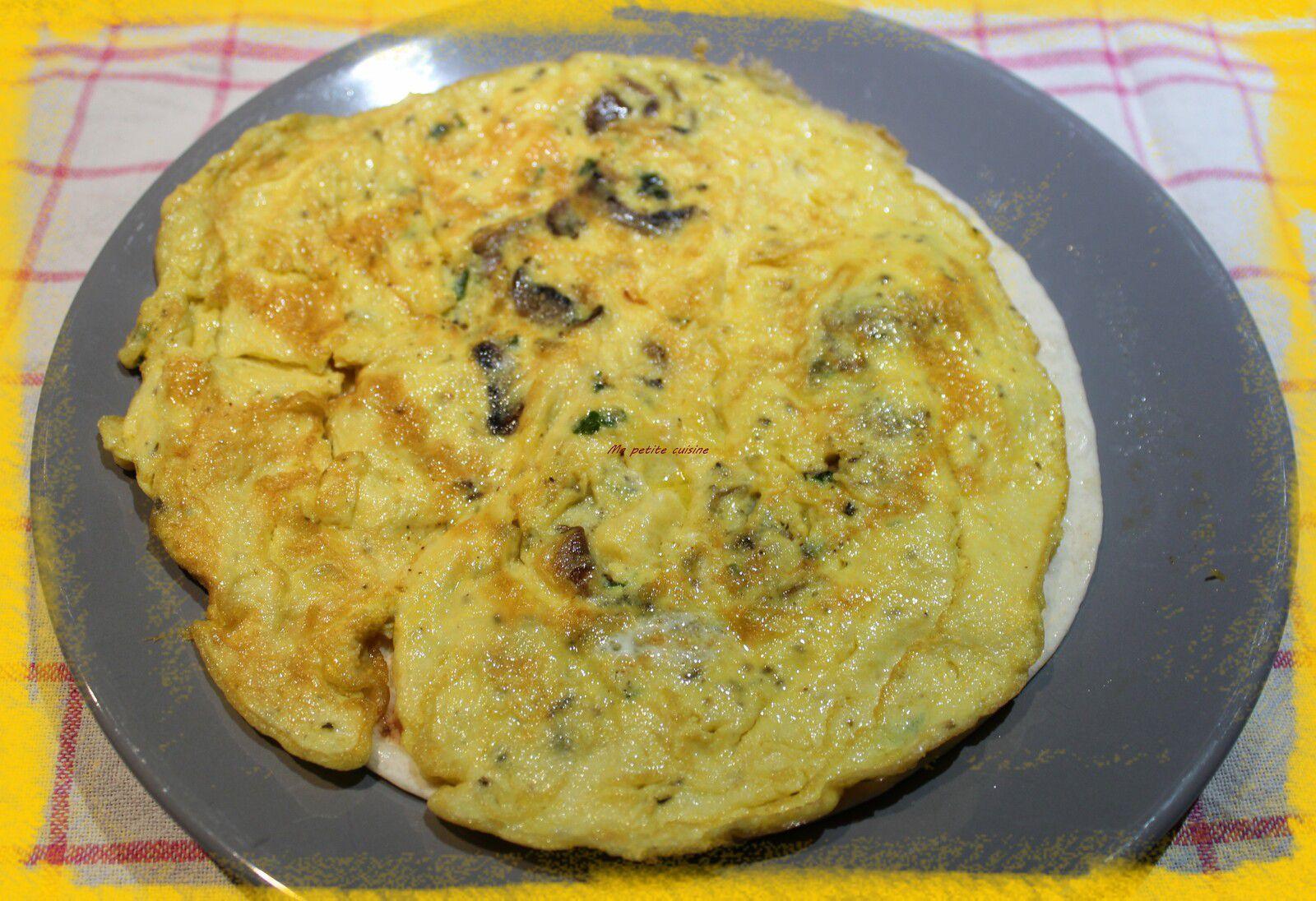 Wraps à l'omelette aux champignons