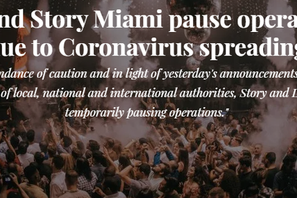 ⚠ Liv and Story in Miami closed due to coronavirus ⚠