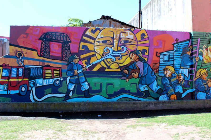Le quartier de la Boca : le coin du stade et le passage Caminito