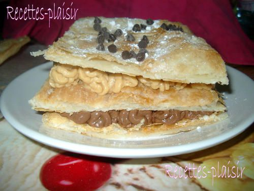 Millefeuille chocolat-cacahuète