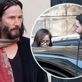 Keanu Reeves is bundled up and looking sharp visiting Rome