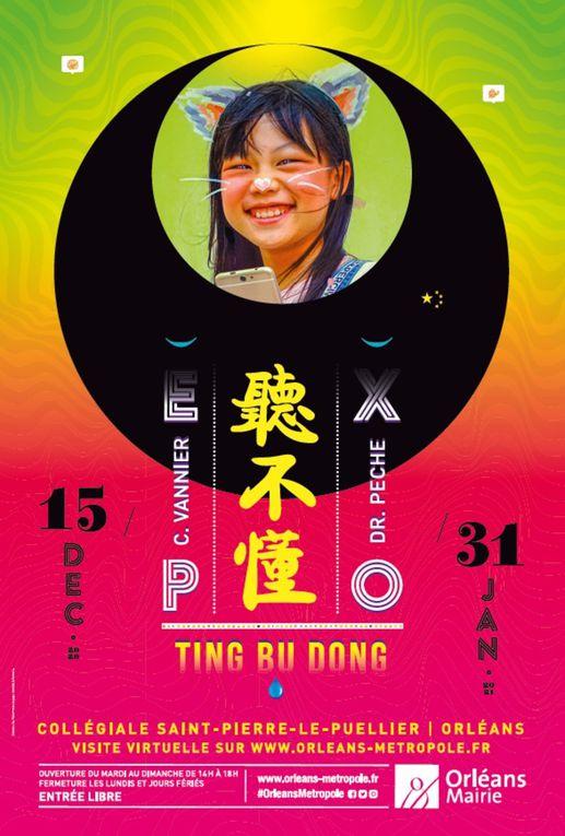 Photos et visite virtuelle de l'exposition Ting Bu Dong - Collégiale St-Pierre-le-Puellier d'Orléans jusqu'au 31 janvier 2021