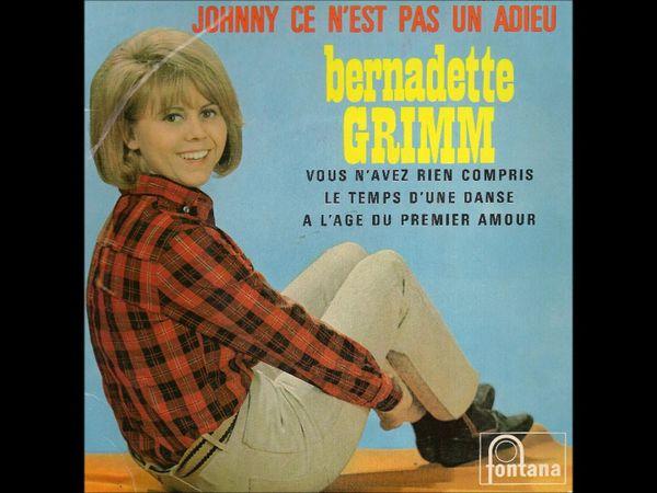 Bernadette Grimm, une chanteuse française des années 1960 née en Algérie qui était chez PHILIPS avec pour directeur artistique jean jacques tilché