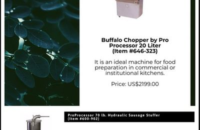 Meat Processing Equipment - Order a Catalog Now on 1-800-330-5081