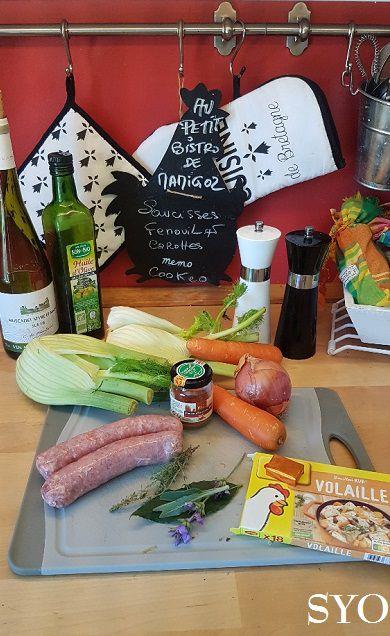 Saucisses aux Fenouils et Carottes au Cookeo