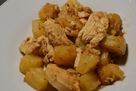Poulet ananas au cookeo