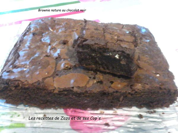 Brownie nature au chocolat noir