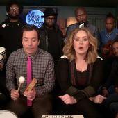 Jimmy Fallon, Adele et The Roots dans une version inédite d'Hello (vidéo). - LeBlogTvNews