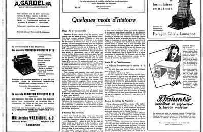 """Allusions : Anonyme """"Quelques mots d'histoire"""" (1935)"""
